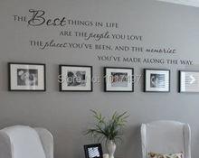 Лучшие вещи в жизни Виниловые наклейки на стены цитирует ~ Любовь Memories стена Цитата Home Art Наклейка виниловая наклейка