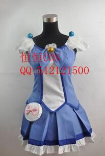 2016 Cosplay Costume Suite PreCure Aoki Reika New in Stock Retail / Wholesale Halloween Christmas Party Uniform(China (Mainland))