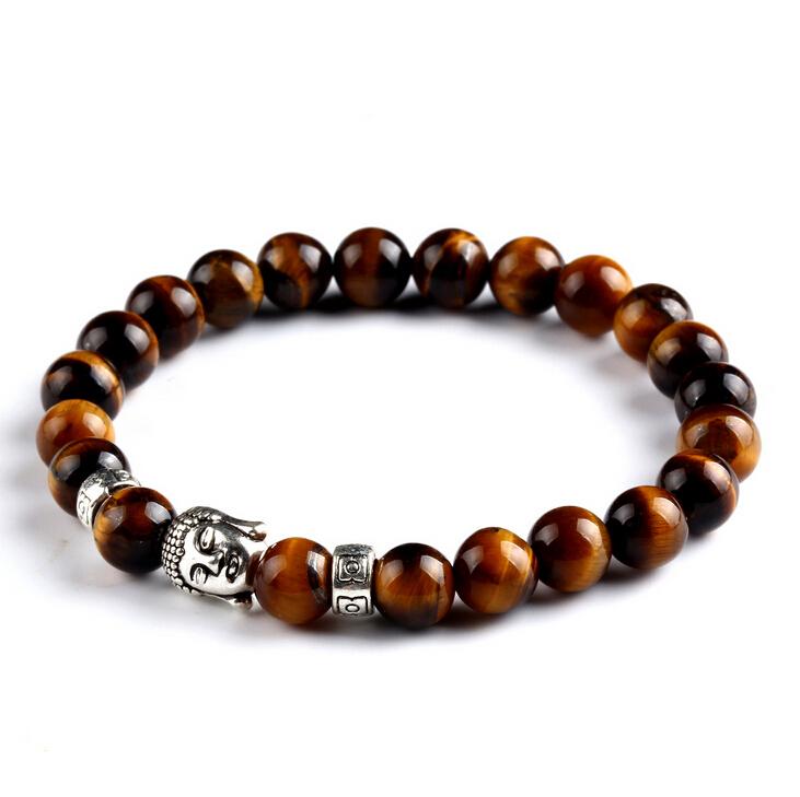 Гаджет  Fashion Jewelry Smile Gold Buddha Bracelet Black Lava Energy Stone Beads Men and Women Gift Religion Bracelets pulseras None Ювелирные изделия и часы