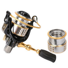 TSURINOYA Fishing Reels Saltwater All Metal Spinning Reel double Spool FS2000 5.2:1 Fish Carretilha 8+1BB spinning reeels(China (Mainland))