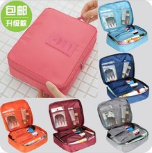 New 2015 Nylon Multifunction Make up Organizer bag Women Cosmetic bags Ourdoor Travel Bag Handbag Bolsas Free shipping(China (Mainland))