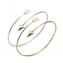 Min 1pc-Gold and Silver Adjustable Arrow Bangle Bracelets, Arrow shape Bangle EY-G016