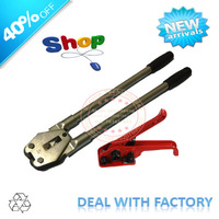 """Manual strapping tool, banding machine, 6/8""""19mm wide,handy stronger design,tensioner+sealer,steel strapper,red,durable,packing"""