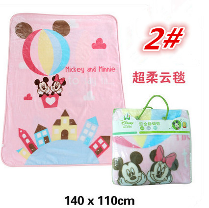 Фотография Luxury Blanket With Cartoon Printing 1.2 Kg 110*140cm Square Toddler Blankets 4 Colors For Choosing Double Layers Very Thick