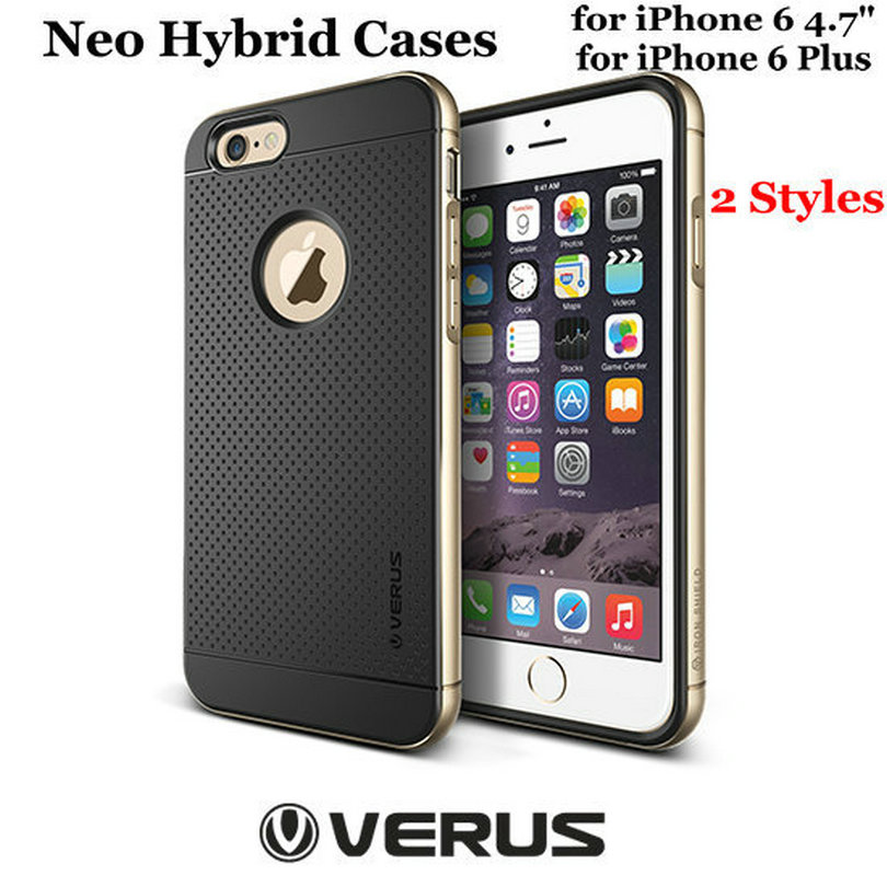 """Soft Back Cover Silicone Plastic Verus Neo Hybrid Case for iPhone 6 6S 4.7"""" Bumblebee Cover for iPhone 6 Plus 6S Plus 4 Styles(China (Mainland))"""