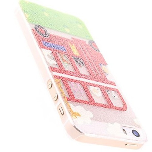 Dreamstar Cartoon Bus for Design PC Hard Case for iphone 5 5S(China (Mainland))
