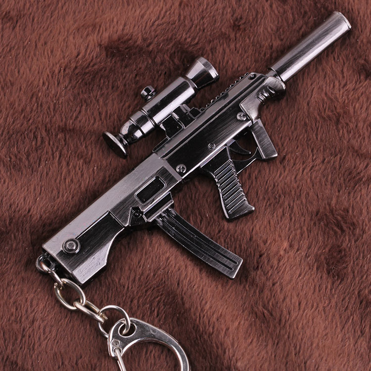 online games CrossFire CF MP7A1 arms model alloy Mens Keychain Key Chain Ring Charm 2015 Men Fashion Jewelry Chaveiro Chaveiros(China (Mainland))