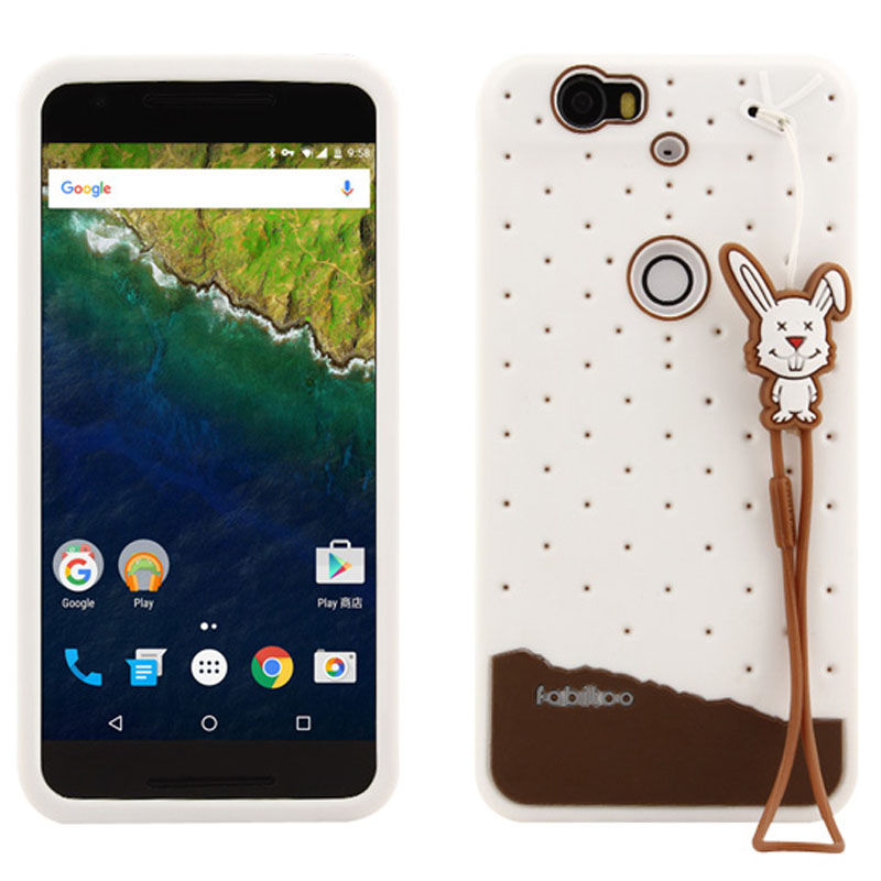 High Quality 3D Ice cream Series TPU Silicon Case Cover for Google Huawei Nexus 6P Mobilephone Case Cover With Free Screen Film(China (Mainland))