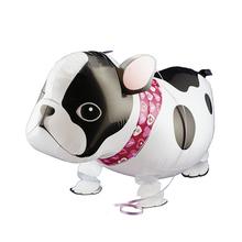 2016 Hot New Cartoon Walking puggy Pet Animals Bulldog Foil Balloon Helium Balloon For Party Children Toy Free Shipping(China (Mainland))