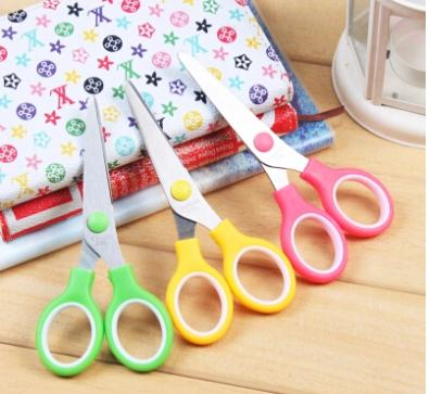 Child safety scissors elastic scissors art paper tool manual DIY stainless steel scissors for children NO 2(China (Mainland))