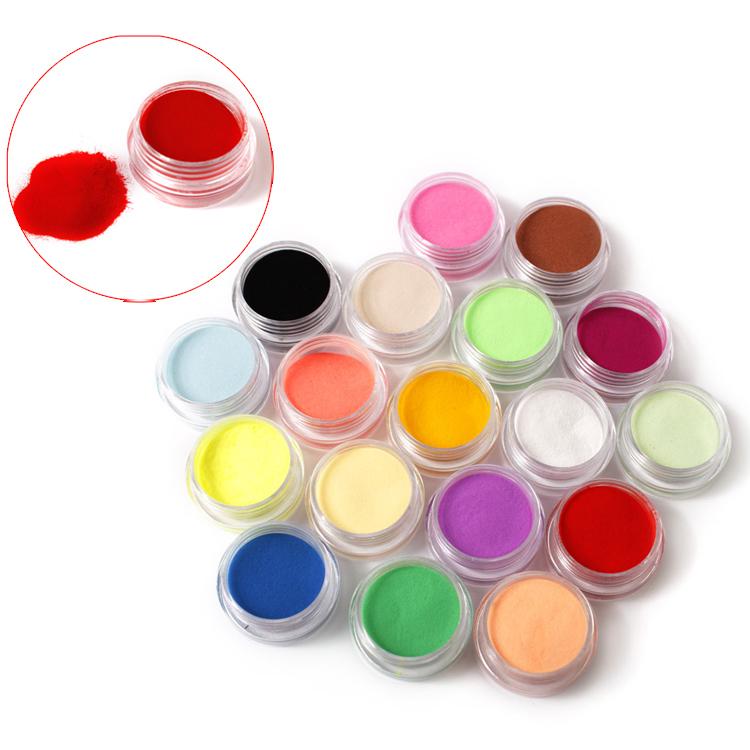 18 Different Colors Nail Art Glitter Powder Dust Decoration Fashion acrylic nail powder(China (Mainland))