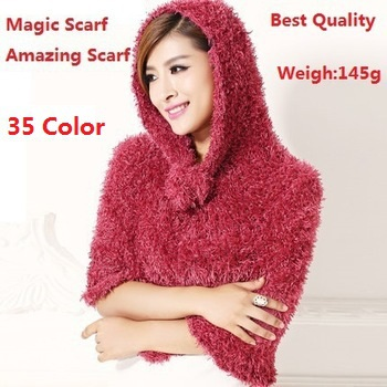 Factory Sale 2016 Fashion 35 Color DIY Multifunction Magic Scarf Amazing Echarpes Shawls Pashmina Scarves For Women/Ladies Gifts(China (Mainland))