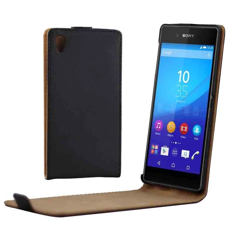 Phone Case Vertical Flip Up and Down Magnetic Button Leather Case ...
