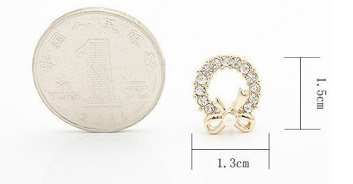 high quality romantic ear rings  /ear nail /stud earrings with heart type