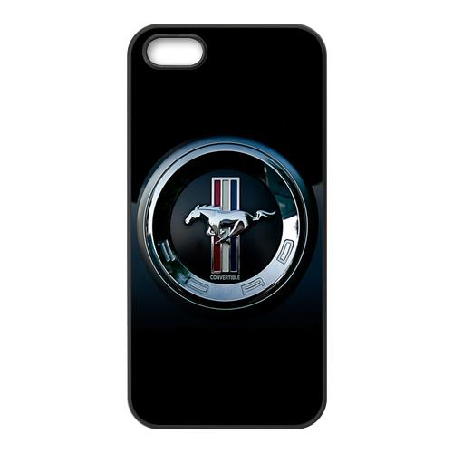 Custom Car Ford Mustang Logo Cool Unique For iPhone 4 4S 5 5S 5C 6/6 Plus Case Cover(China (Mainland))
