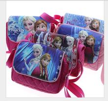 2016 new children messenger bag Elsa Anna kids shoulder bag for girls cute children casual bags good quality