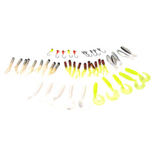35 soft bait small 10 lead Jig head hook lure combination set Simulation Suite fishing lure set crap fishing tackle YC215-SZ