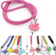 neck hand cell phone mobile chain straps keychain Charm Cords DIY Hang Rope Lariat Lanyard Free shipping(China (Mainland))