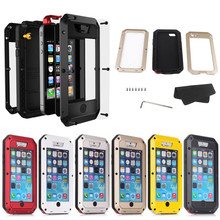 Luxury Dirtproof Shockproof Waterproof Aluminum Metal Heavy Duty Armor Hard Case For iphone 5c Cover Gorilla Tempered Glass(China (Mainland))