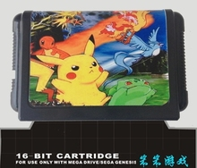 Sega 16bit MD games card Pocket Monsters For 16 bit Sega MegaDrive Genesis game console