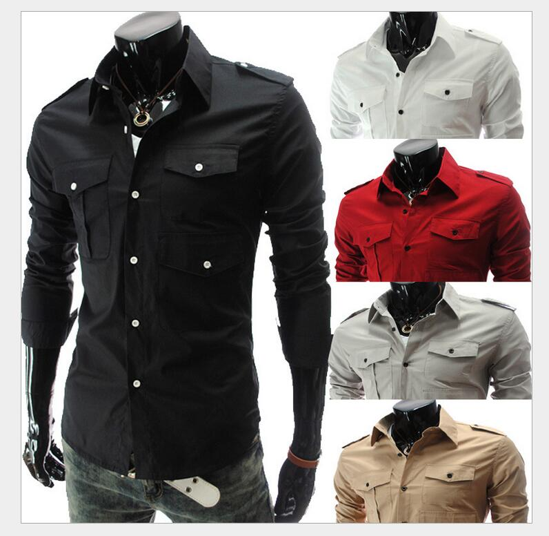 New 2016 High quality Casual Slim Fit Stylish Dress Shirts Man Brand New Style Design Mens Shirts evening dress 5017(China (Mainland))