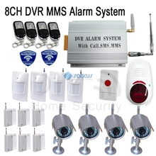 Wireless&Wired Home Alarm GSM SMS MMS Pictures Camera Security System SC-208(China (Mainland))