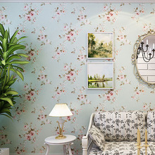 Background wall floral wallpaper pvc wall covering classic flower wall paper for living room & bedroom green,beige(China (Mainland))