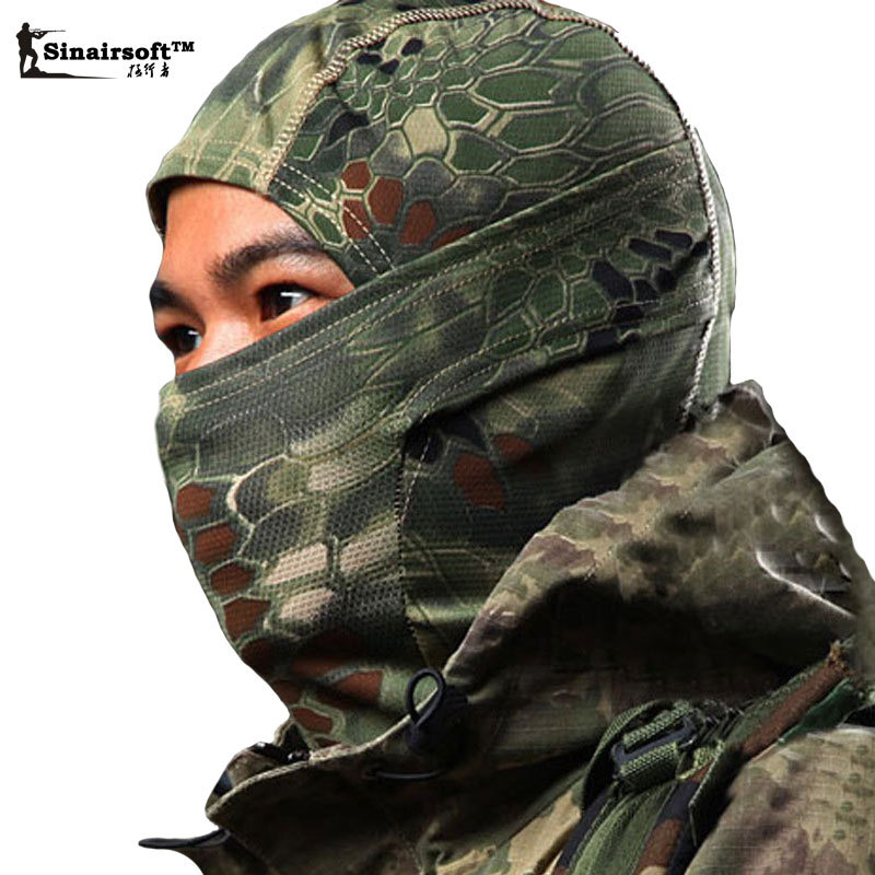 Breathable Chiefs Rattlesnake Cam Tactical Mask Airsoft Paintball Full Face Mask Motorcycle Cycling Hunting CS Balaclava helmets<br><br>Aliexpress