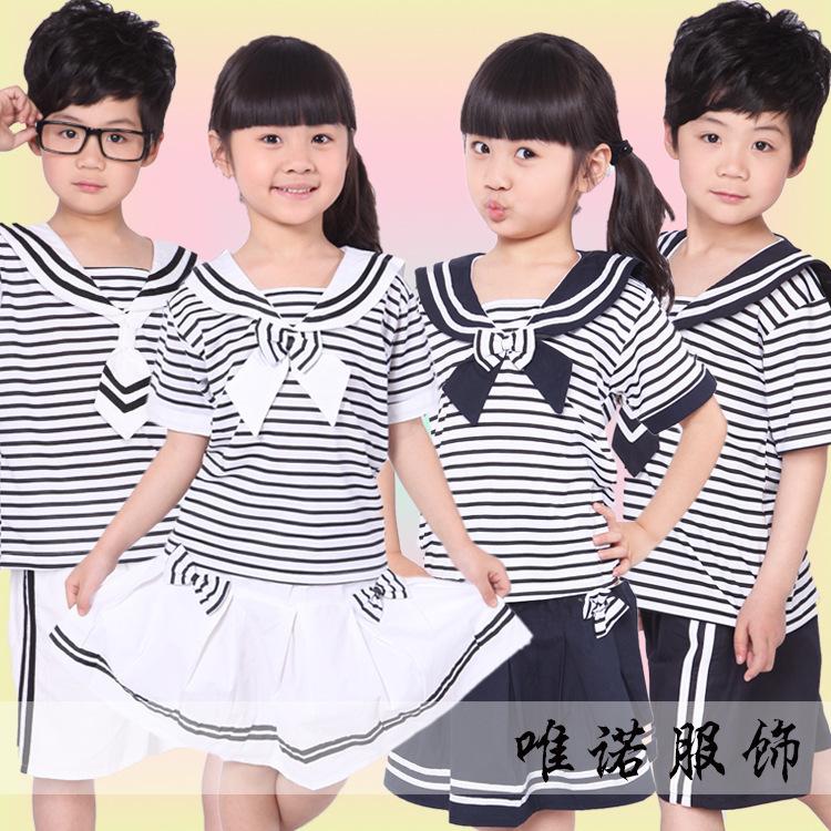 rten children summer garden clothing wholesale manufacturers children summer clothing Navy service uniforms kindergarten(China (Mainland))