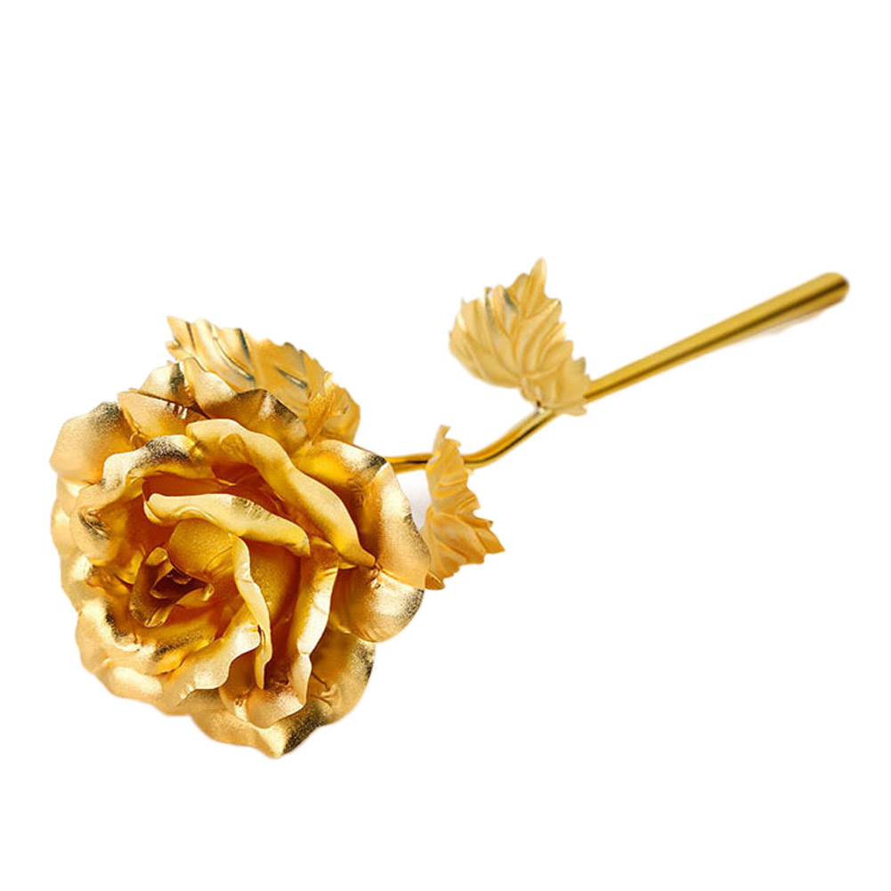 Sale Cheap Golden Clinquant Fake Gold Yellew Color Rose DIY Handcraft Pasted Home Decorative Roses Gift Decor 25*8cm HG0128(China (Mainland))