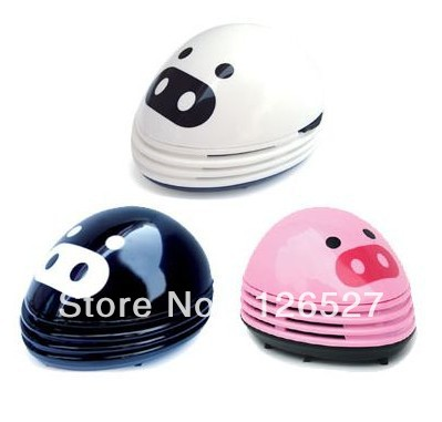 Free shipping cute piglet mini vacuum cleaner desktop portable creative small micro filter cleaner dust collector