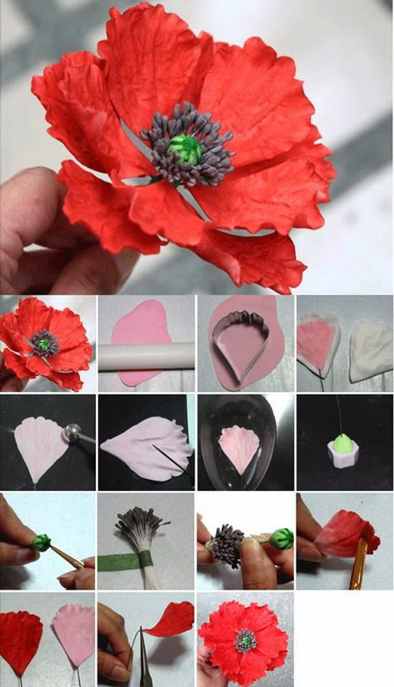 Как сделать полевой цветок из мастики 49