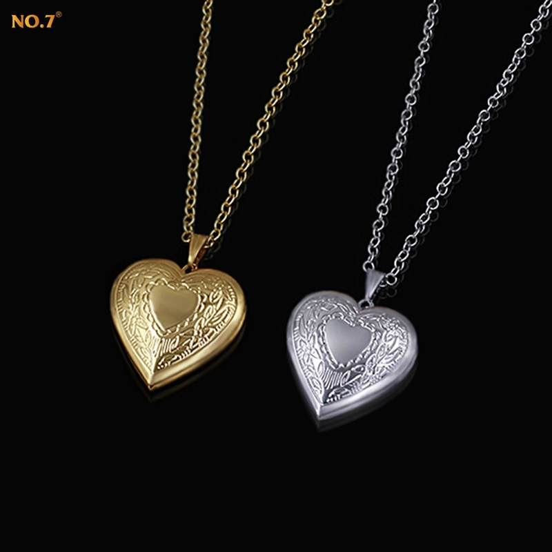 N7 Brand Heart Locket Necklace Heart Jewelry Gift Platinum/Gold Plated Collares Trendy Cute Pendant Necklace Women Wholesale(China (Mainland))