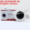 Free shipping English version DS 2CD2942F IS 4MP Compact Fisheye Network ip security Camera with Fisheye