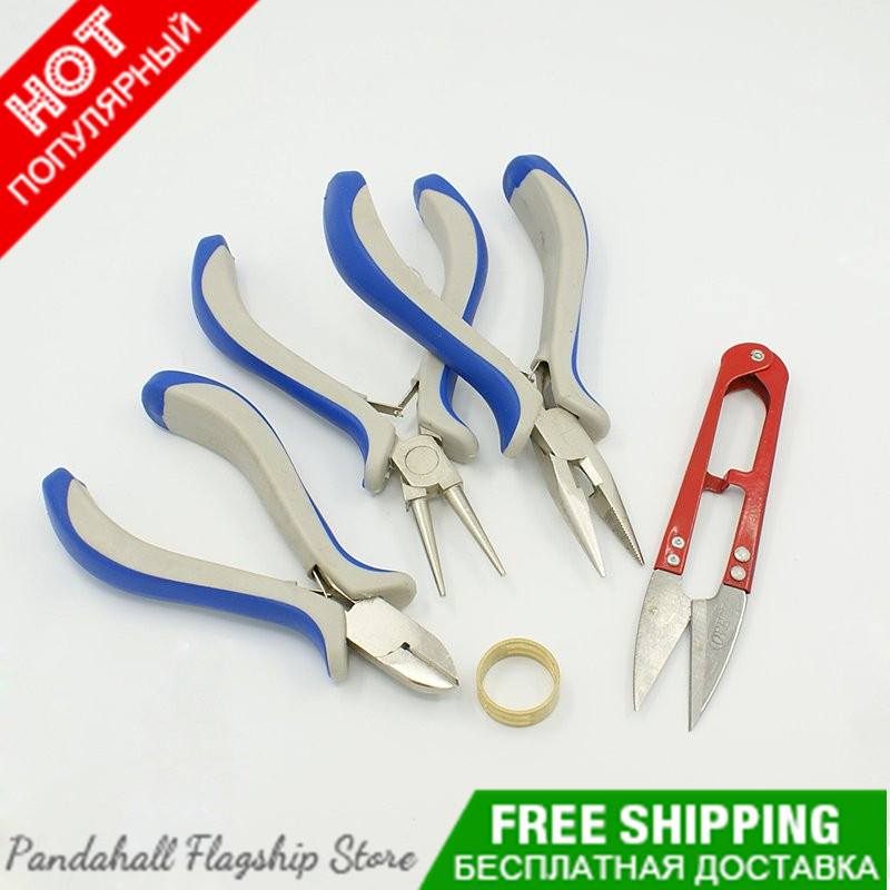 DIY Jewelery tools and equipment Pliers tools for fashion jewelry crafts making Rings Hand Scissored round nose pliers tools set(China (Mainland))