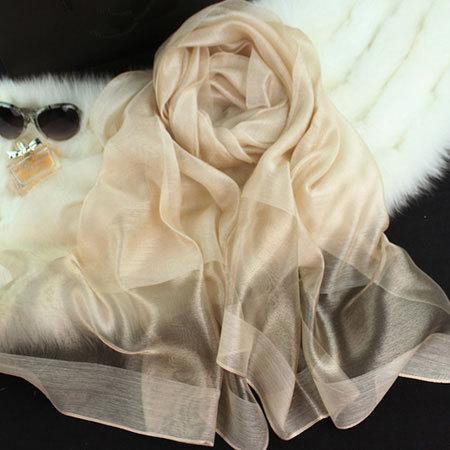 Бесплатная доставка 2016 Новая мода шарф женщин шелковые Шарфы и Обертывания сплошной Шелковые Платки золото шелковые шарфы