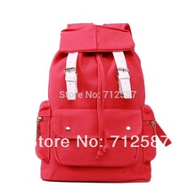 high quality Fashion design Cute Casual Punk Girl Canvas candy color Shoulder Bag School Backpack Satchel(China (Mainland))