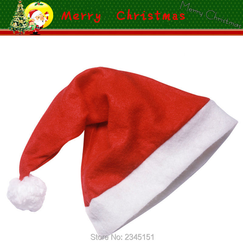 3pcs/lot baby Christmas hat red for girls boys hats Party Santa Claus cap children Christmas Decoration caps for 1-6 years child