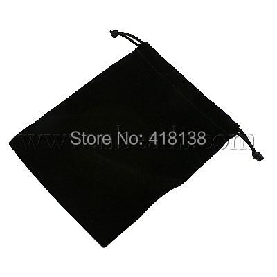 Velvet Jewelry Bags,  Black,  about 10cm wide,  12cm long
