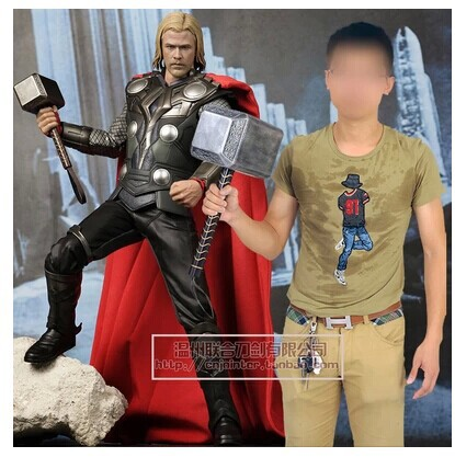 thor hammer model cosplay the superhero funny pvc toy great gifts 1:1 resin and pvc(China (Mainland))