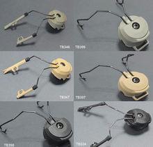 FMA Helmet Accessories Sordin Type Headset Holder Fast Helmet Rail Adapter Set BK/DE/FG Free Shipping(China (Mainland))