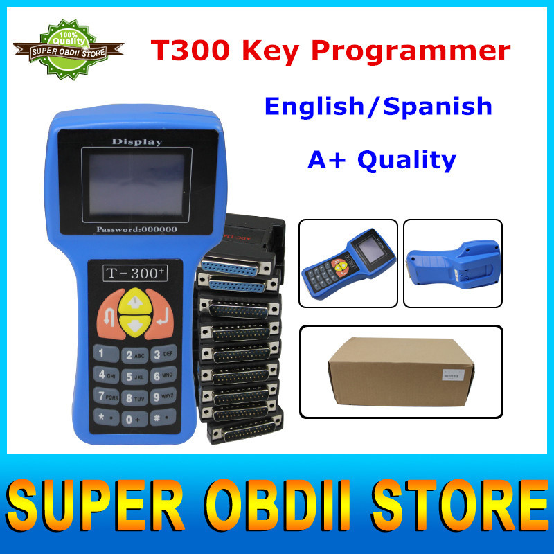 Top Latest Version V15.8 T300 Auto Key Programmer 2015 Spanish/English Language Support Multi-brands Cars 3 Years Warranty(China (Mainland))