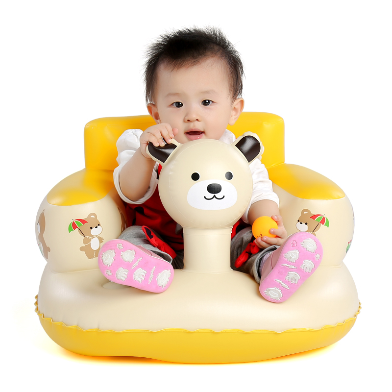 Baby bath seat dining chair portable inflatable aerated sofa pushchair Baby Learn Sofa Chair Seat 7M-36M<br><br>Aliexpress
