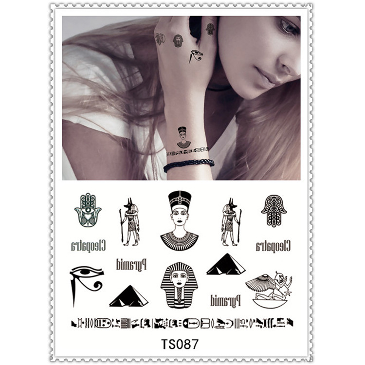 Nontoxic tattoo sticker body art tattoo flash tattoo disposable fake henna temporary tattoos Halloween(China (Mainland))