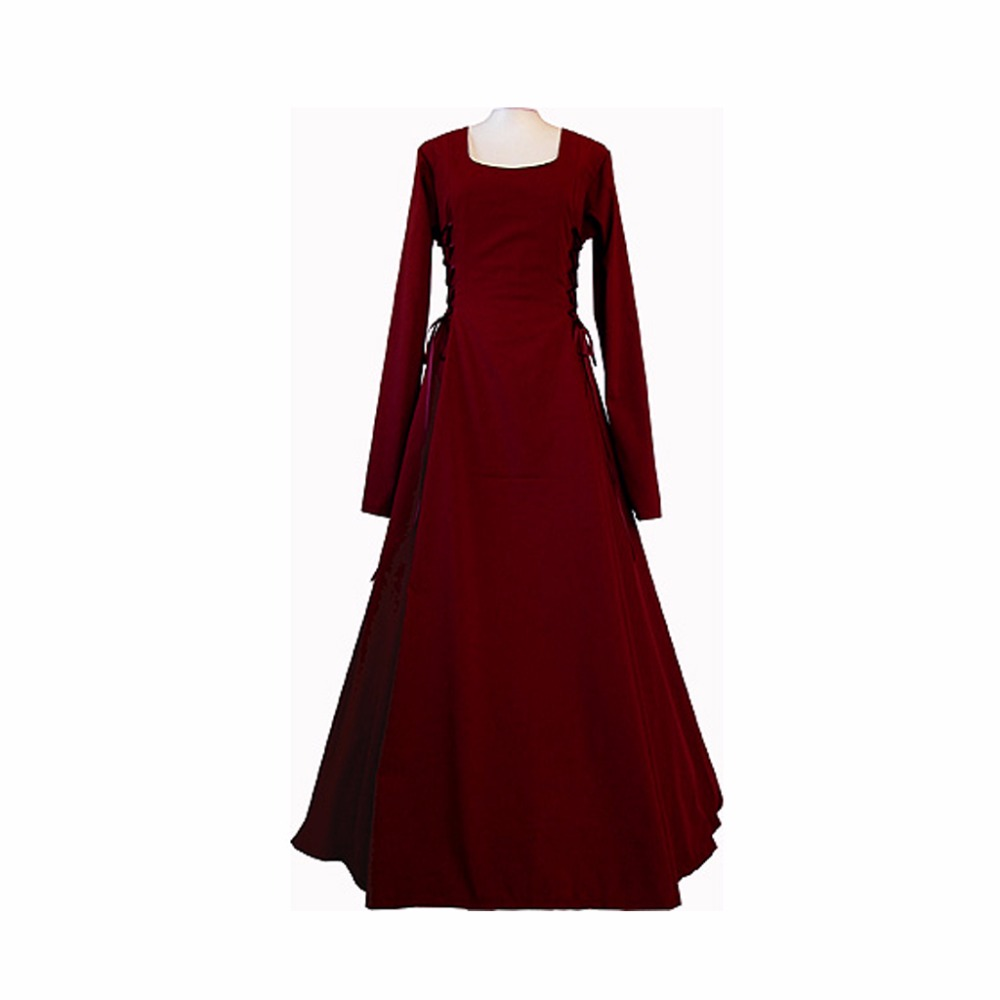 Popular Medieval Red Dress Buy Cheap Medieval Red Dress Lots From China Medieval Red Dress