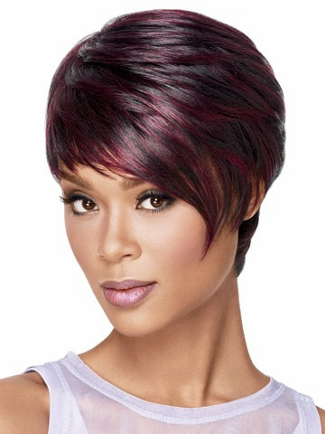 Ombre Black Women's Synthetic Bob Wig Short Wigs For Black Women Female Realistic Cute Curly Wigs Peluca Peruca Feminina(China (Mainland))