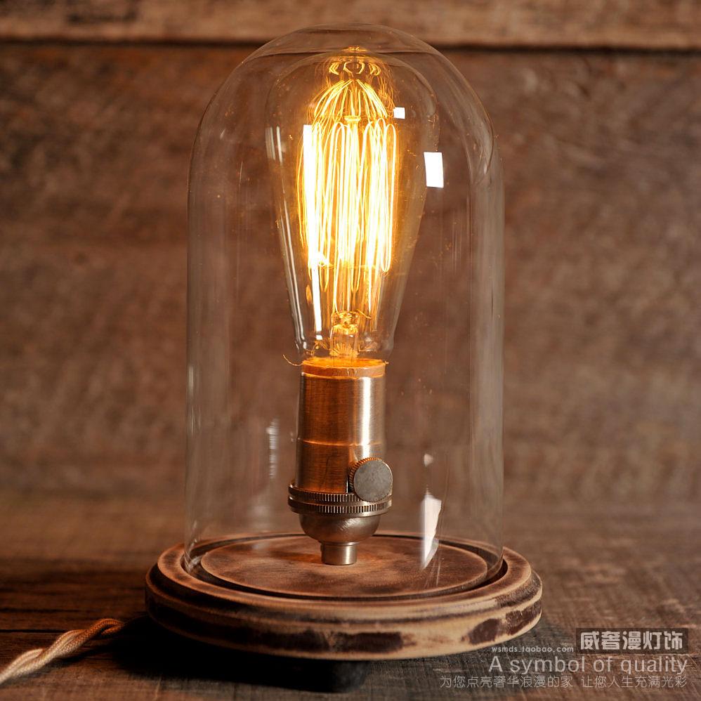 american style tischleuchte jahrgang pers nlichkeit glas lampe bett beleuchtung log tabelle. Black Bedroom Furniture Sets. Home Design Ideas