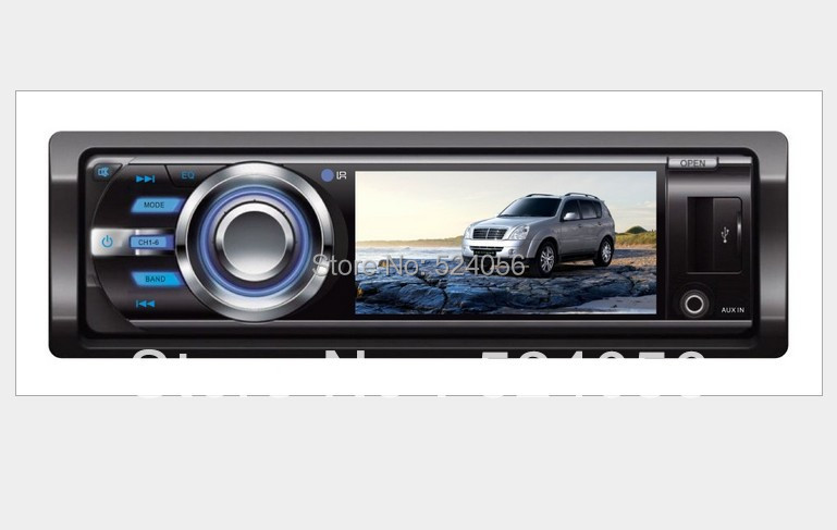 Free shipping 3 inch 1 one din car DVD CD MP3/multimedia car DVD/MP5 player 50WX4 with Radio audio stereo video,FM/AM,USB/SD/MMC(China (Mainland))