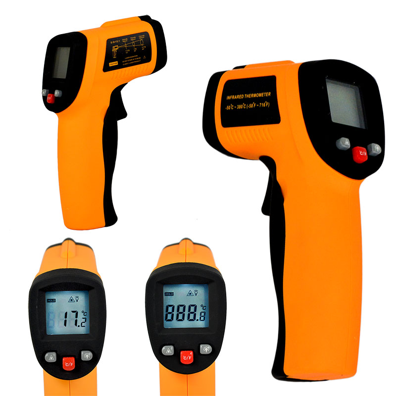 Hot Sell Digital IR Infrared Thermometer Temperature Meter Infrared thermometer -50~380 Degree,infrared thermometer meter(China (Mainland))