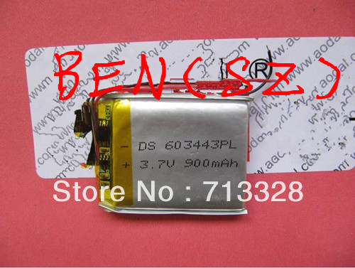 PL603443 battery for PS wholesale,900MA Lithium Ion battery for MP3 player(China (Mainland))